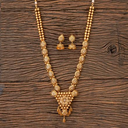 203243 Antique Long Necklace with Gold Plating