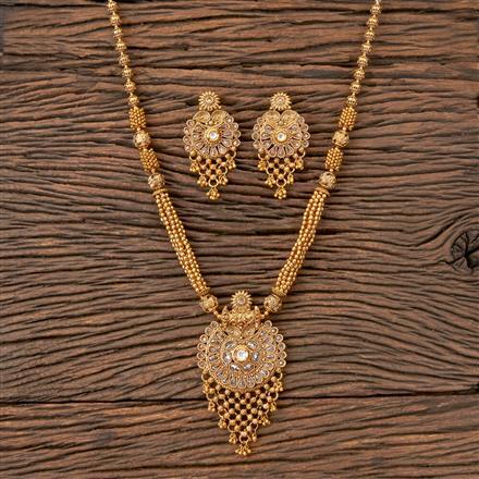203247 Antique Mala Pendant set with Gold Plating