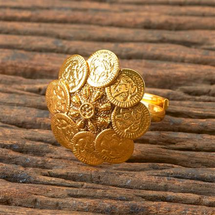 203251 Antique Temple Ring with Gold Plating
