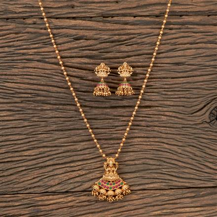 203275 Antique Temple Pendant set with Matte Gold Plating
