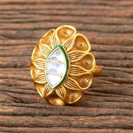 203284 Antique Classic Ring with Matte Gold Plating