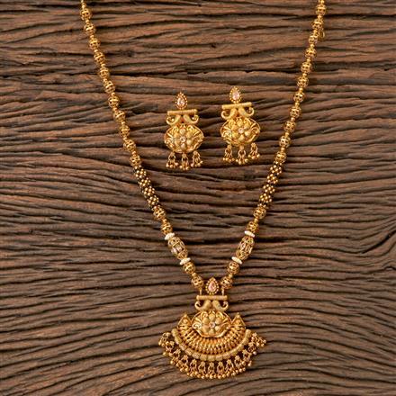 203293 Antique Mala Pendant set with Gold Plating