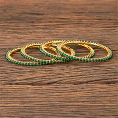 203298 Antique Delicate Bangles With Gold Plating