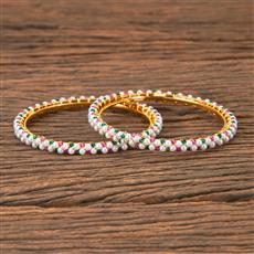 203328 Antique Delicate Bangles with Gold Plating
