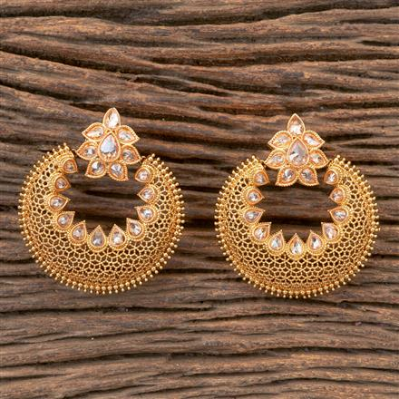 203340 Antique Chand Earring With Gold Plating