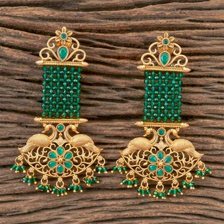 203342 Antique Peacock Earring With Gold Plating