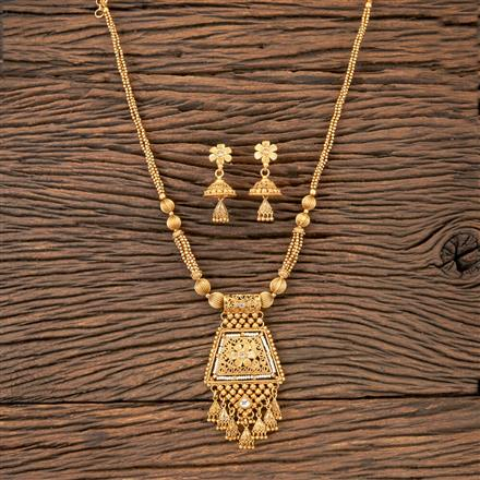 203346 Antique Mala Pendant Set With Gold Plating