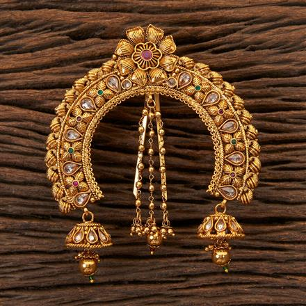 203759 Antique Classic Hair Brooch With Gold Plating