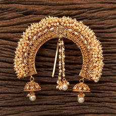 203762 Antique Classic Hair Brooch With Gold Plating