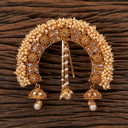 203766 Antique Classic Hair Brooch With Gold Plating