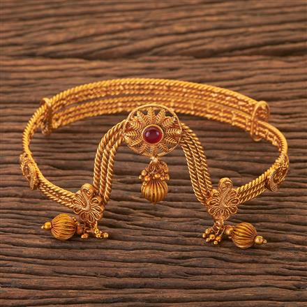 204069 Antique Classic Baju Band With Matte Gold Plating