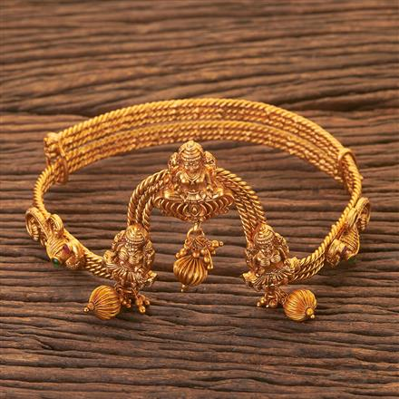 204071 Antique Temple Baju Band With Matte Gold Plating
