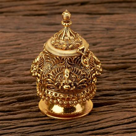 204133 Antique Classic Sindoor Box With Gold Plating