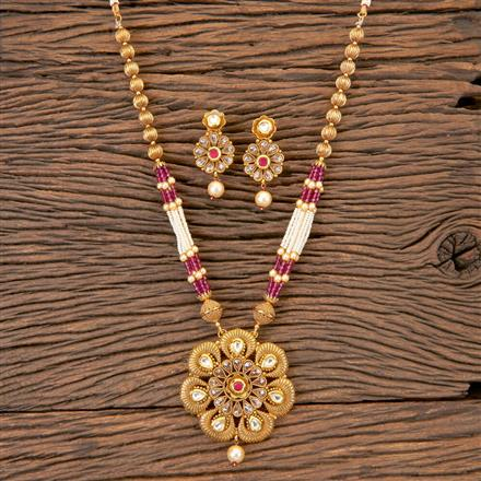 204159 Antique Mala Pendant Set With Gold Plating