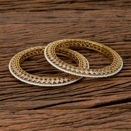 204183 Antique Classic Bangles With Mehndi Plating Plating