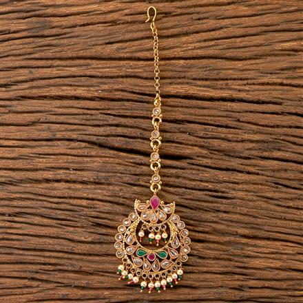 204188 Antique Chand Tikka With Gold Plating
