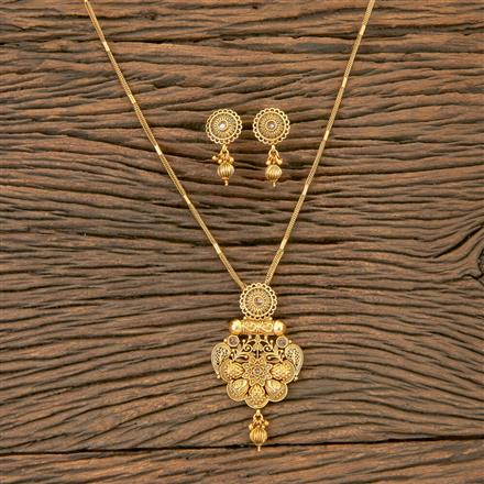 204241 Antique Delicate Pendant Set With Matte Gold Plating