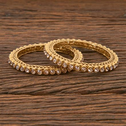 204275 Antique Classic Bangles With Mehndi Plating