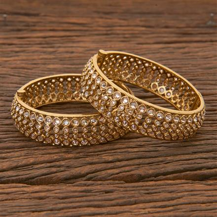204283 Antique Openable Bangles With Mehndi Plating