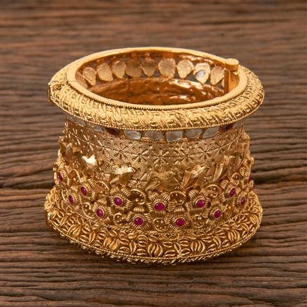 204310 Antique Classic Bangles With Matte Gold Plating