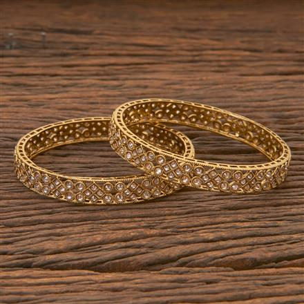 204311 Antique Classic Bangles With Mehndi Plating