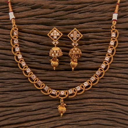 204315 Antique Delicate Necklace With Gold Plating