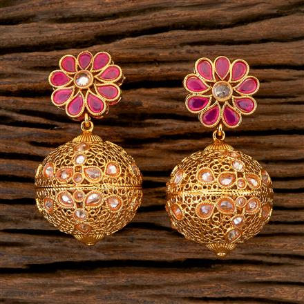 204359 Antique Classic Earring With Gold Plating