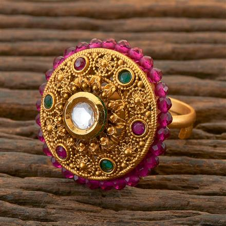 204372 Antique Classic Ring With Matte Gold Plating