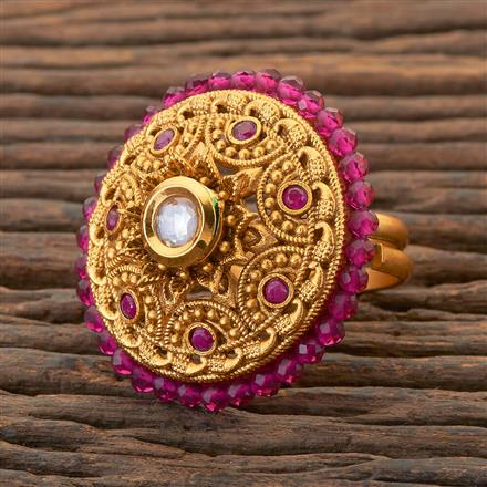 204377 Antique Classic Ring With Matte Gold Plating