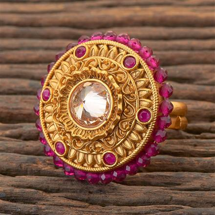 204380 Antique Classic Ring With Matte Gold Plating