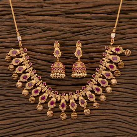 204382 Antique Classic Necklace With Gold Plating
