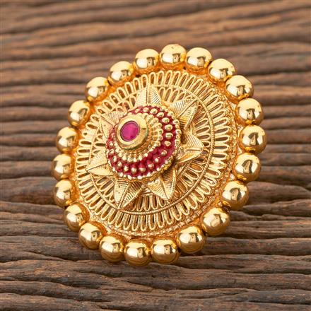 204388 Antique Classic Ring With Gold Plating