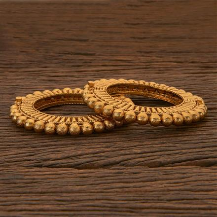 204422 Antique Openable Bangles With Gold Plating