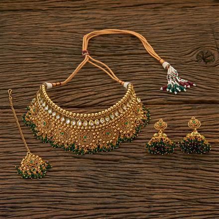 204423 Antique Choker Necklace With Gold Plating