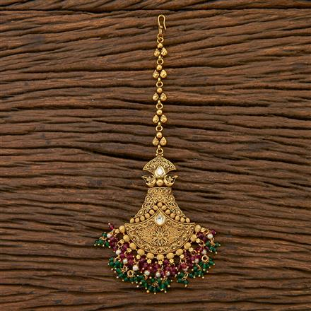 204513 Antique Classic Tikka With Gold Plating
