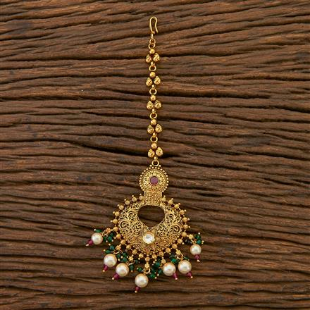 204514 Antique Chand Tikka With Gold Plating