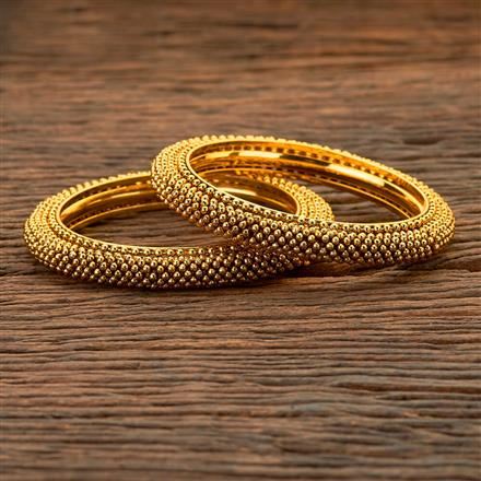 204530 Antique Plain Bangles With Gold Plating