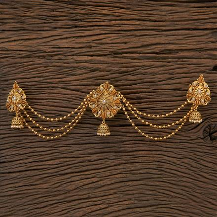 204563 Antique Classic Hair Brooch With Gold Plating