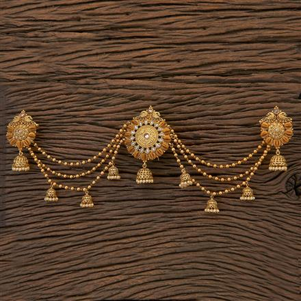 204564 Antique Classic Hair Brooch With Gold Plating