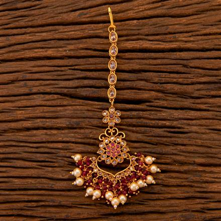 204618 Antique Chand Tikka With Gold Plating