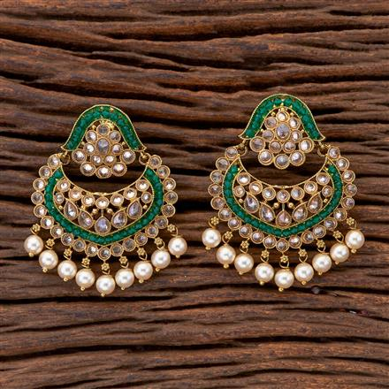 204622 Antique Classic Earring With Mehndi Plating