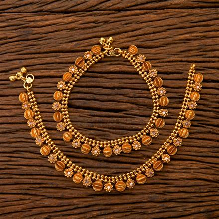 204640 Antique Classic Payal With Gold Plating