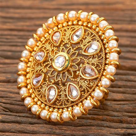 204691 Antique Classic Ring with gold plating