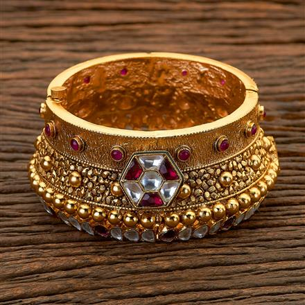 204698 Antique Openable Bangles with matte gold plating