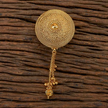 204717 Antique Plain Brooch with gold plating