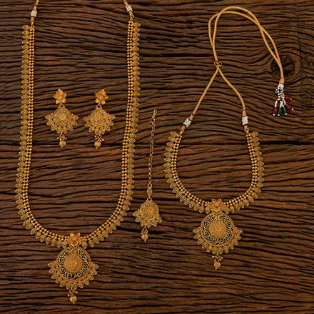 204734 Antique Combo Necklace sets with gold plating
