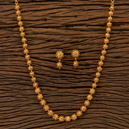 204804 Antique Mala Necklace with matte gold plating