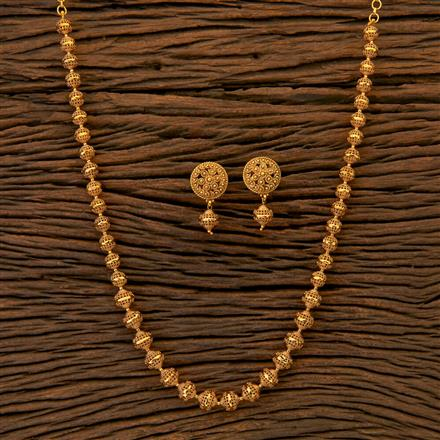 204806 Antique Mala Necklace with matte gold plating
