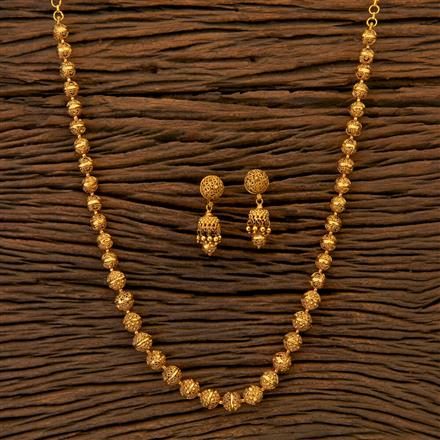 204809 Antique Mala Necklace with matte gold plating