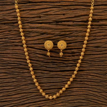 204810 Antique Mala Necklace with matte gold plating